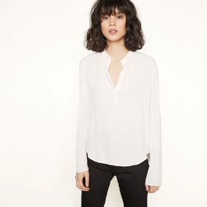 LADENCE Flowing top with rhinestone details - Tops - Maje.com