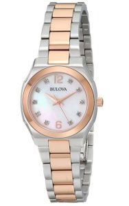 Bulova Women's 98P143 Diamond Gallery Japanese Quartz Watch