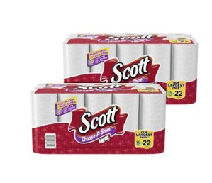 Scott Choose-A-Sheet Mega Roll Paper Towels, White, 15 Rolls, Pack of 2