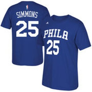 Men's Philadelphia 76ers Ben Simmons adidas Royal Net Number T-Shirt