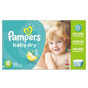 Amazon.com: Pampers Baby Dry Diapers Economy Pack Plus, Size 6, 128 Count: Health & Personal Care