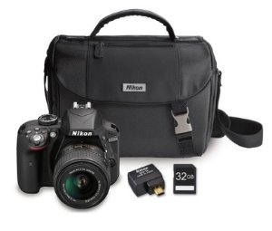 Nikon Refurbished D3300 24.2MP DSLR + 18-55 VR II Lenses + WiFi Adapter Kit+ Case & 32GB Card
