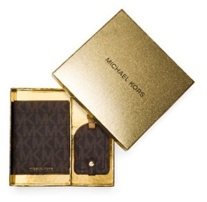 Michael Michael Kors Giftables Signature Logo Passport Case and Luggage Tag Set @ Lord & Taylor