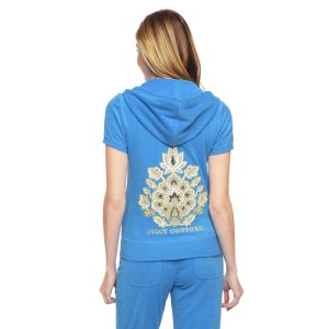 Logo Terry Riviera Floral Short Sleeve Jacket | Juicy Couture