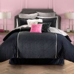 $53.99 Juicy Couture Gilded Velour Comforter Set