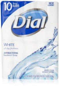 $1.10 Dial Antibacterial Deodorant Soap, White, 10 Count