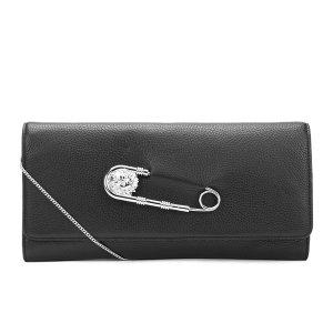 Versus Versace Women's Clutch Bag - Black/Nickel - Free UK Delivery over £50