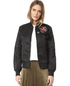 $395 Cinq a Sept  Personalized Bomber Jacket