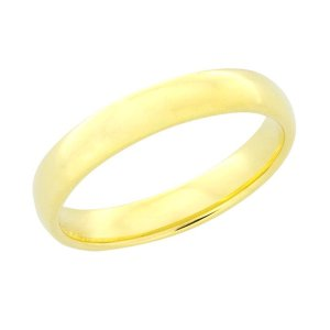 Light Tungsten Gold Domed 5mm Ring