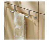 InterDesign York Over-the-Cabinet Kitchen Dish Towel Bar Holder, Satin - Walmart.com