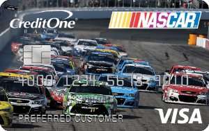 1% cash back on eligible purchasesNASCAR® Credit Card from Credit One Bank®