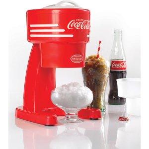 Nostalgia RISM900COKE Coca-Cola Electric Shaved Ice and Snow Cone Machine