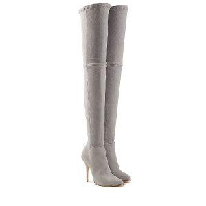 Suede Thigh-High Boots  from BALMAIN | Luxury fashion online | STYLEBOP.com