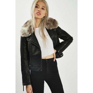 Faux Leather Biker Jacket - Sale - Sale & Offers - Topshop USA