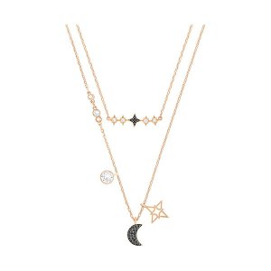 Glowing Moon Necklace, Black - Jewelry - Swarovski Online Shop