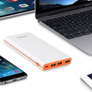Lumsing Ultrathin Portable 3-Port USB Charger 15000mAh Premium External Battery Pack & Power Bank