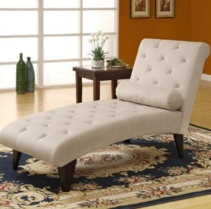 Monarch Tufted Velvet Chaise Lounger - Taupe