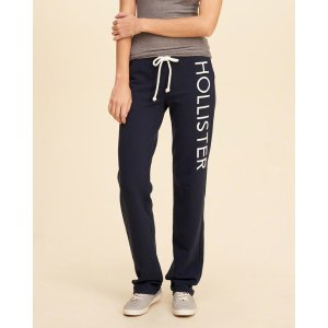 Girls Hollister Skinny Graphic Sweatpants | Girls Clearance | HollisterCo.com