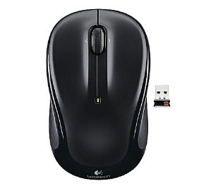 Logitech M325 Wireless Mouse, Black and Blue Facet