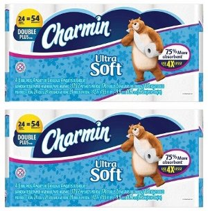 $22.38 48-Ct Charmin Ultra Soft Double Plus Toilet Paper Rolls + $5 Target GC