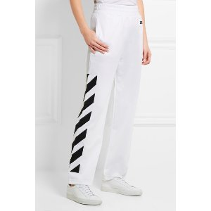 Off-White | Printed cotton-jersey track pants | NET-A-PORTER.COM
