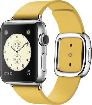 $349.00 Apple Watch (first-generation) 38mm Stainless Steel Case -Marigold Modern Buckle Band