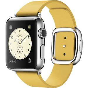 Apple Watch (first-generation) 38mm Stainless Steel Case - Marigold Modern Buckle Band