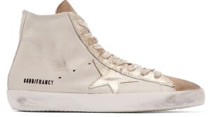 Golden Goose  Beige Francy High-Top Sneakers