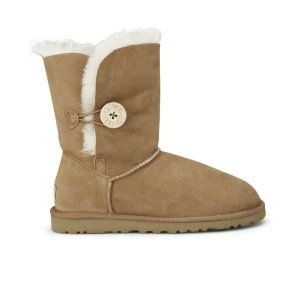 UGG Women's Bailey Button Sheepskin Boots - Chestnut - Free UK Delivery over £50