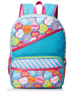 Pink Platinum Girls' Candy Hearts 16 Inch Backpack