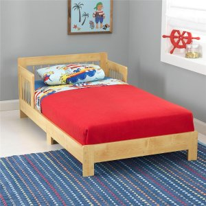 KidKraft Toddler Houston Bed, Natural