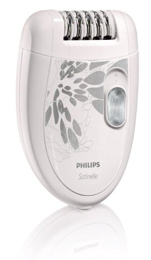 Philips HP6401 Satinelle Epilator, White/Gray