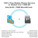 FreedomPop 100% Free Mobile Phone Service with Global 3-in-1 SIM Kit