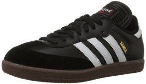 Lightning Deal! adidas Men's Samba Classic Soccer Shoe,Black/Running White,7 M US