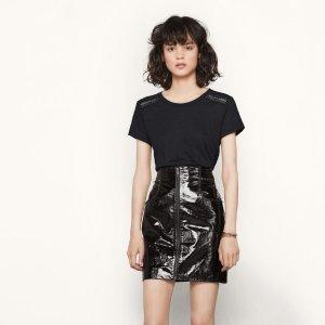 JACKO Short patent leather skirt