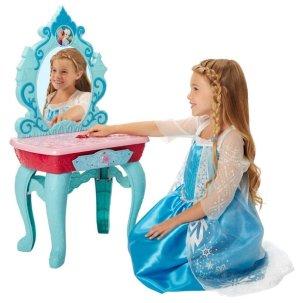 史低价!$17.86Disney 冰雪奇缘梳妆台+梳理玩具套装