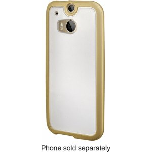 Insignia Soft Shell Case for HTC One (M8) Cell Phones Gold NS-MHT2CG - Best Buy