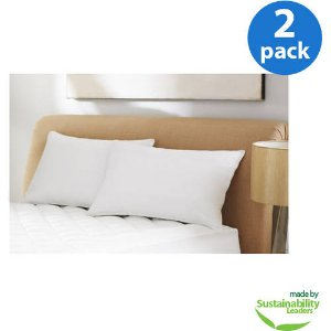 Mainstays Standard Microfiber Pillow, Set of 2