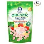 Gerber Organic Yogurt Melts Fruit Snacks, Banana and Strawberry, 1 Ounce (Pack of 7)