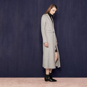 GALAXIE Long double-sided wool coat - Coats & Jackets - Maje.com