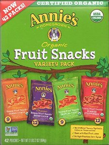 $15.99 Annie's Homegrown Organic Vegan Fruit Snacks Variety Pack, 42 Count