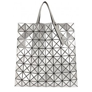 Bao Bao Issey Miyake Lucent Pro silver tote