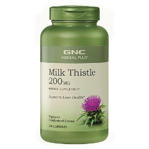 GNC Herbal Plus Milk Thistle 200 MG 200 Capsules