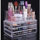 $13.99 Sodynee Jewelry and Cosmetic Storage 2 Piece Acrylic Makeup Organizer