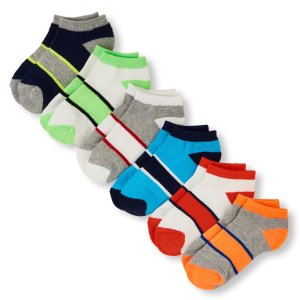 Boys PLACE Sport Arch Stripe Ankle Sock 6-Pack