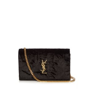 Monogram classic textured-velvet cross-body bag | Saint Laurent
