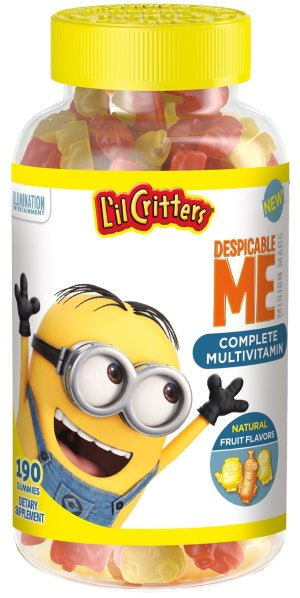 $5.69 + Free Shipping L'il Critters Minions Multivitamins Gummies, 190 Count