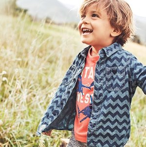 50% Off + Extra 25% Off $40 + Free ShippingKids Apparel Sale @ OshKosh BGosh