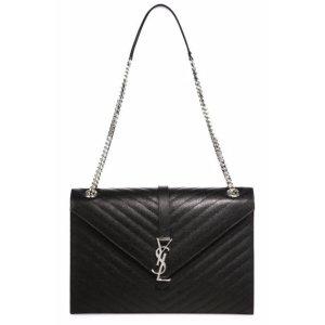 Saint Laurent Saint Laurent Monogram Large Grained Matelasse Leather Chain Shoulder Bag