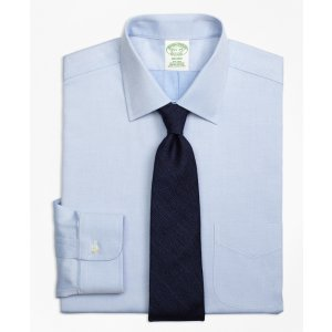 Non-Iron Milano Fit Diamond Dobby Dress Shirt - Brooks Brothers